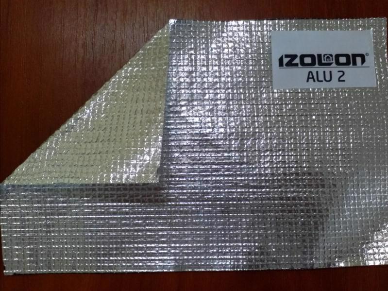 Полотно-сітка IZOLON ALU-2 1.0*25.0м фольгована (2-х-сторін.)