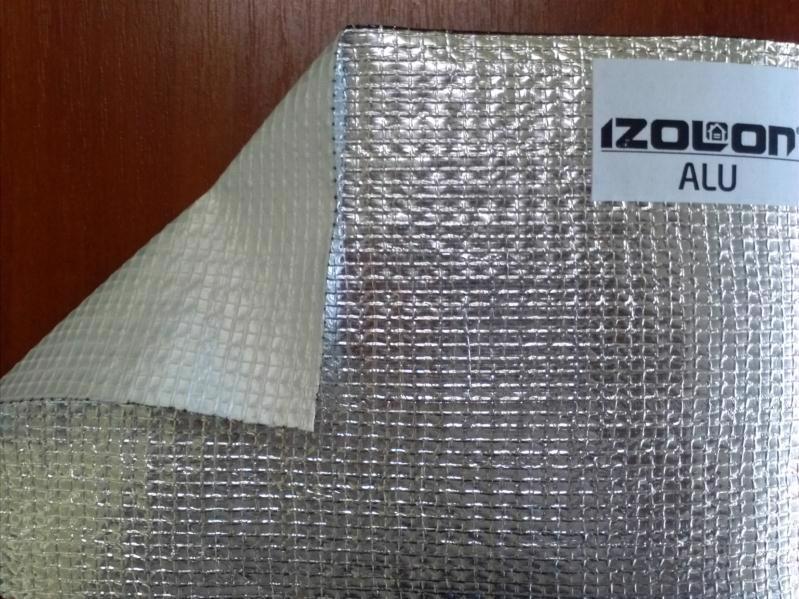 Полотно-сітка IZOLON ALU-1 1.0*25.0м фольгована