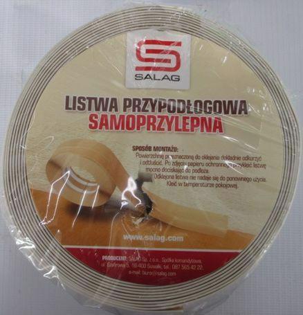 Плінтус гнучкий SALAG 0.05*5м білий 08