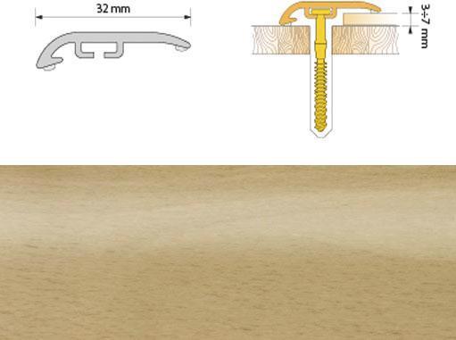 Поріжок ПВХ SALAG Cirrus С32 0.93м бук 01
