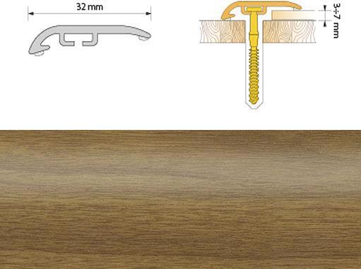 Поріжок ПВХ SALAG Cirrus С32 0.93м дуб світл. 03