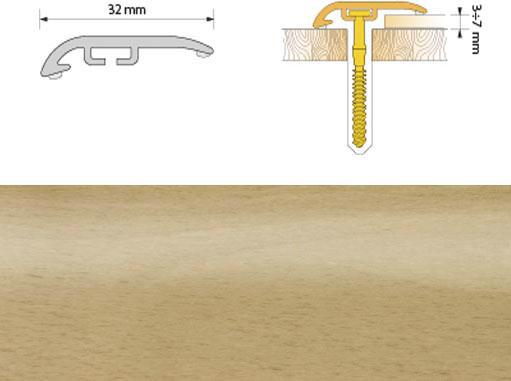 Поріжок ПВХ SALAG Cirrus С32 1.86м бук 01