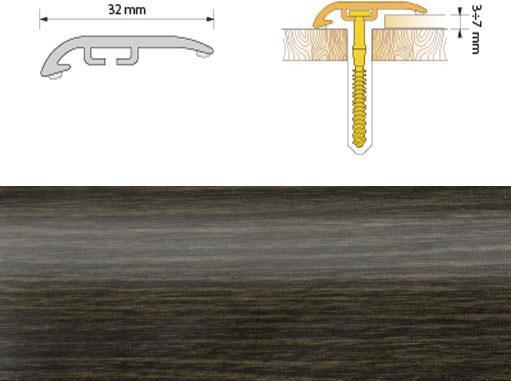 Поріжок ПВХ SALAG Cirrus С32 1.86м венге 12