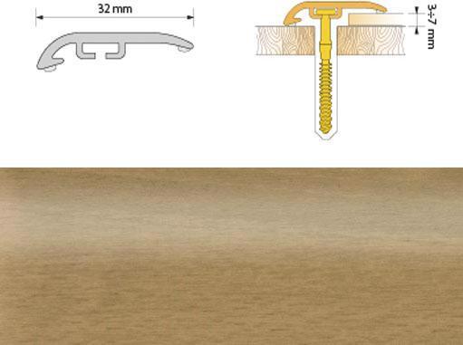 Поріжок ПВХ SALAG Cirrus С32 1.86м груша 07