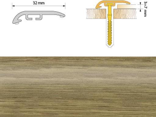 Поріжок ПВХ SALAG Cirrus С32 1.86м дуб натуральний 04