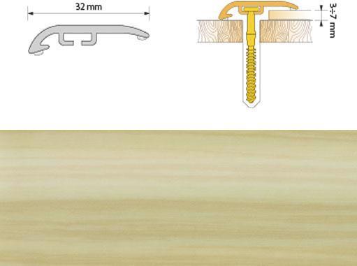 Поріжок ПВХ SALAG Cirrus С32 1.86м сосна 05