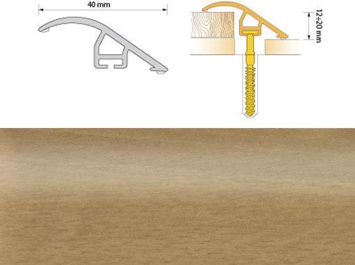 Поріжок ПВХ SALAG Cirrus С40 0.93м груша 07