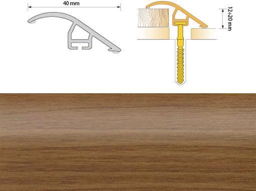 Поріжок ПВХ SALAG Cirrus С40 0.93м черешня 09