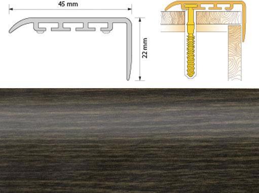 Поріжок ПВХ SALAG Cirrus С45 1.35м венге 12