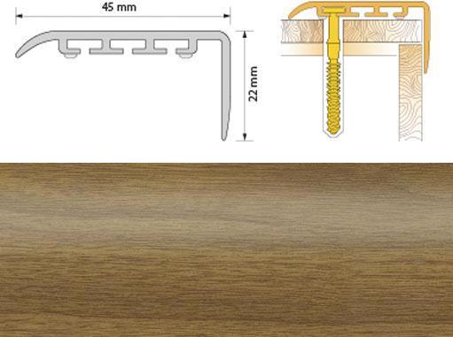 Поріжок ПВХ SALAG Cirrus С45 1.35м дуб світл. 03