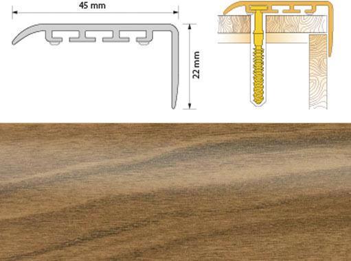 Поріжок ПВХ SALAG Cirrus С45 1.35м горіх 06