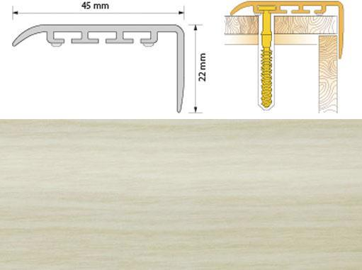 Поріжок ПВХ SALAG Cirrus С45 1.35м сосна біла 14