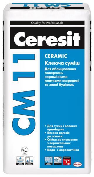 Клей д/плитки CERESIT CM-11 25кг