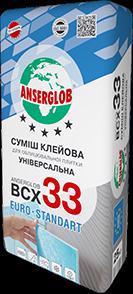 Клей д/плитки ANSERGLOB ВСХ-33 25кг