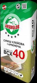 Клей д/пінопласту і мін. вати ANSERGLOB ВСХ-40 армуючий 25кг
