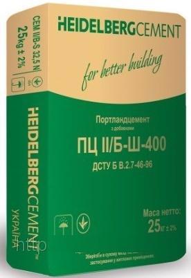 Цемент ПЦ II/Б-Ш-400 25кг HEIDELBERGCEMENT