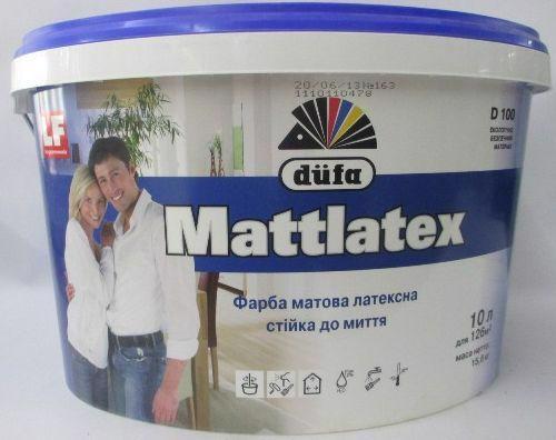 Фарба інтер'єр. DUFA D100 Mattlatex латексна миюч. мат. 10л/14кг
