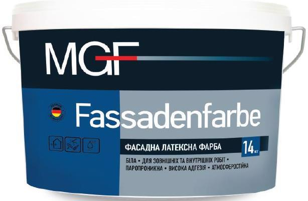 Фарба фасад. MGF M-90 Fassadenfarbe латексна мат.  7.0кг