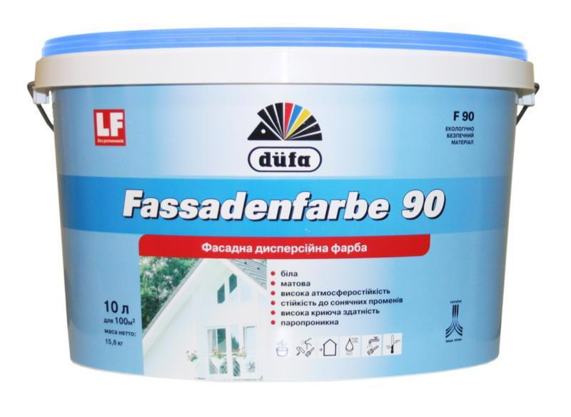 Фарба фасад. DUFA F-90 Fassadenfarbe латексна мат.10л/14кг
