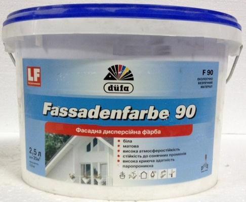 Фарба фасад. DUFA F-90 Fassadenfarbe латексна мат. 2.5л/3.5кг
