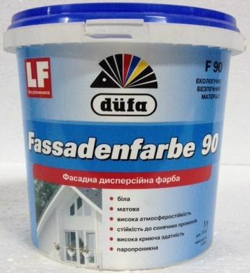 Фарба фасад. DUFA F-90 Fassadenfarbe латексна мат. 1.0л/1.4кг