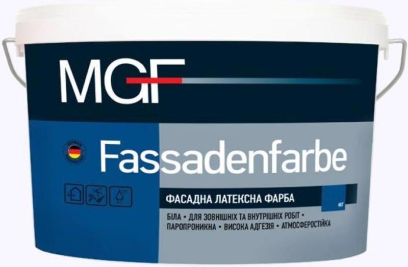 Фарба фасад. MGF M-90 Fassadenfarbe латексная мат.  1.4кг