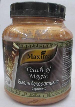 Емаль акрил. MAXIMA Touch of Magic декоратив. бронза 0.5кг