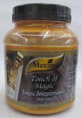 Емаль акрил. MAXIMA Touch of Magic декоратив. черв.золото 0.5кг