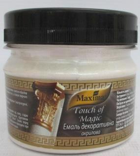 Емаль акрил. MAXIMA Touch of Magic декоратив. срібло 0.1кг
