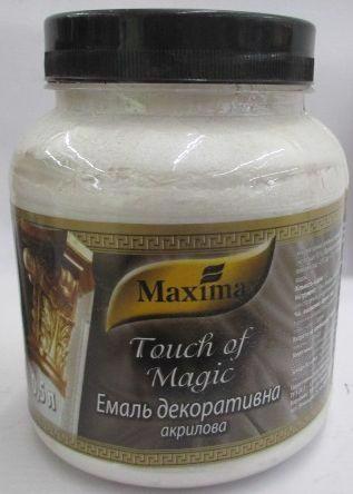 Емаль акрил. MAXIMA Touch of Magic декоратив. срібло 0.5кг