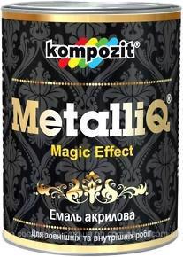 Емаль латекс. KOMPOZIT MetalliQ блак. сяйво 0.1кг