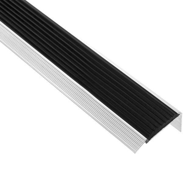 Поріжок КСК А П12 48*18мм 1.0м з гум. срібло