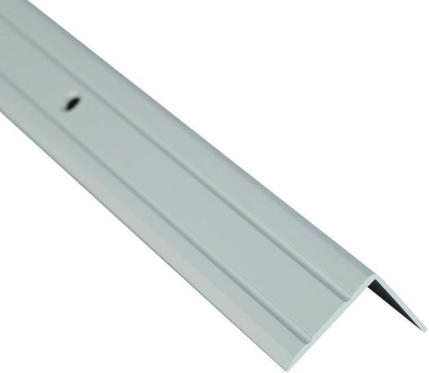 Поріжок BRAZ LINE сход. рифл. 24.5*20мм 0.9м анод. срібло BLB-5302-10-0115-З.09
