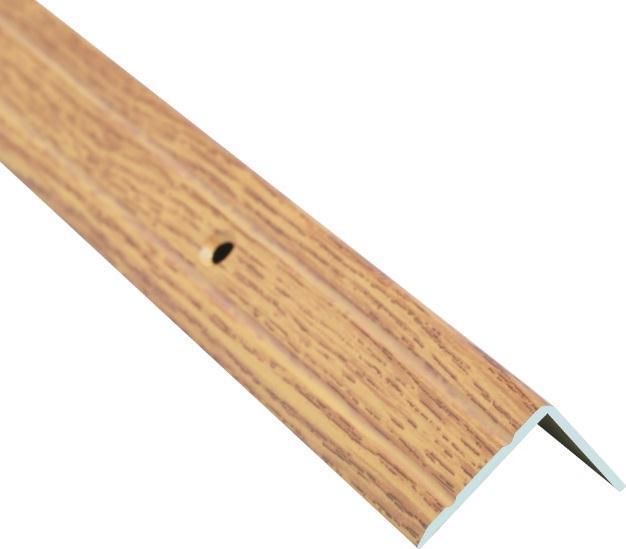 Поріжок BRAZ LINE сход. рифл. 24.5*20мм 0.9м декор. дуб світлий BLB-5302-80-0400-З.09