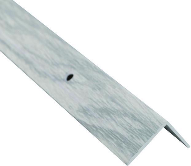 Поріжок BRAZ LINE сход. рифл. 24.5*20мм 0.9м декор. дуб сніжний BLB-5302-80-0150-З.09