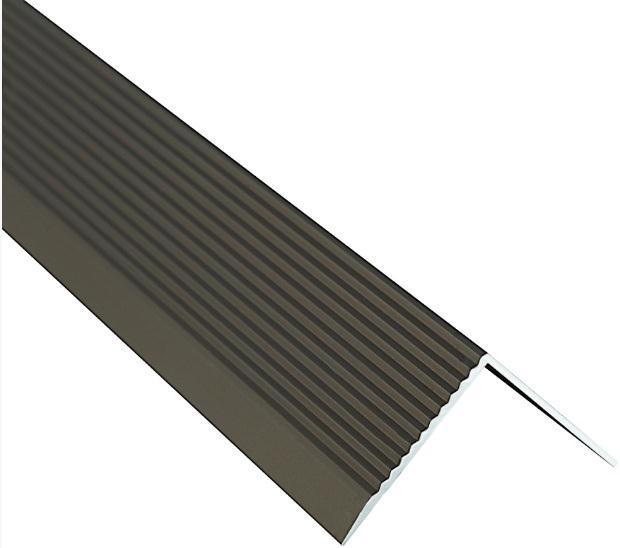 Поріжок BRAZ LINE сход. рифл. 30*30мм 0.9м анод. бронза BLB-5303-40-0115-З.09