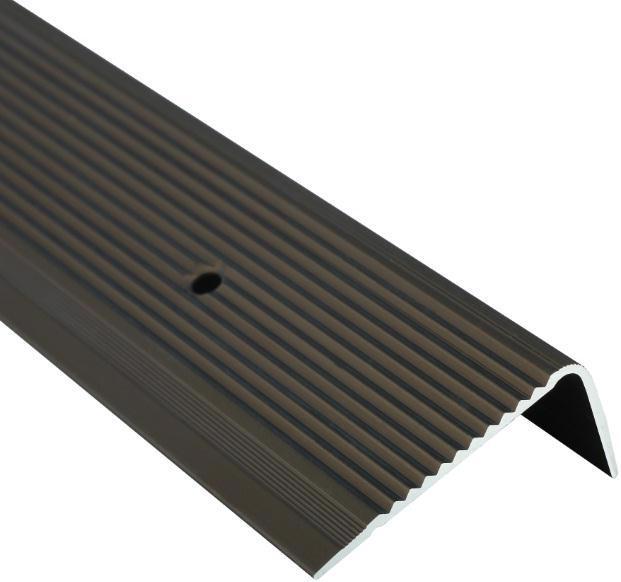 Поріжок BRAZ LINE сход. рифл. 45*20мм 0.9м анод. бронза BLB-5304-40-0115-З.09