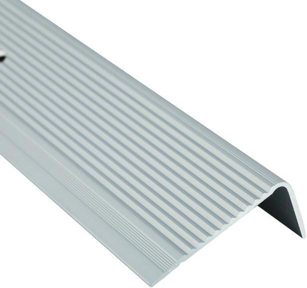 Поріжок BRAZ LINE сход. рифл. 45*20мм 0.9м анод. срібло BLB-5304-10-0115-З.09