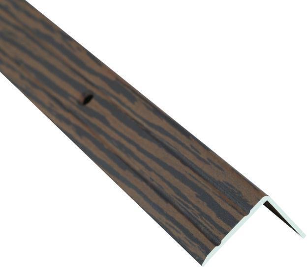 Поріжок BRAZ LINE сх. рифл. 24.5*10мм 0.9м декор. горіх бурбон BLB-5301-80-0800-З.09