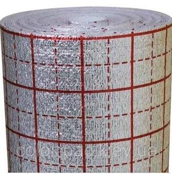 Утеплювач ППЕЛ 1.00*50*0.002м ламінована з розміткою