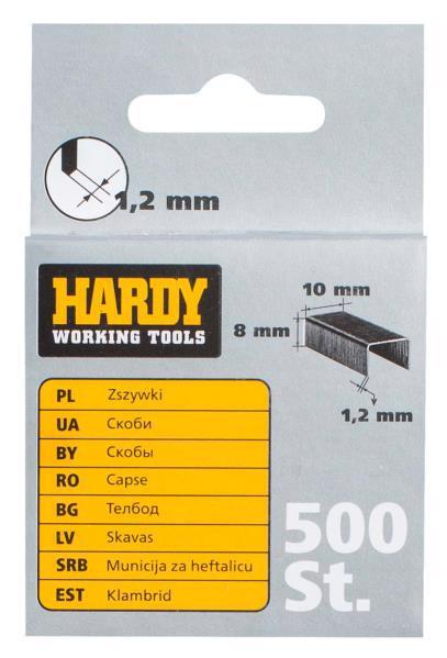 Скоби д/степлера 10*10мм 500шт HARDY 2241-650010