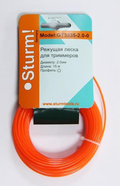"""Волосінь д/тримера """"коло"""" 2.4мм*15м помаранч. STURM GT3535-2.4-0"""