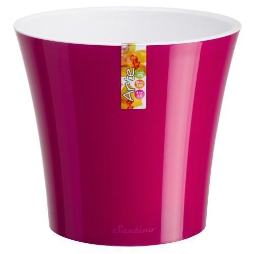 Вазон д/квітів пласт. SANTINO Arte d13.5см (1.2л) пурпурно-біл.