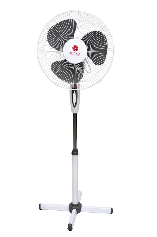 Вентилятор підлоговий FS40-027 3-х шв. MIDAS сірий