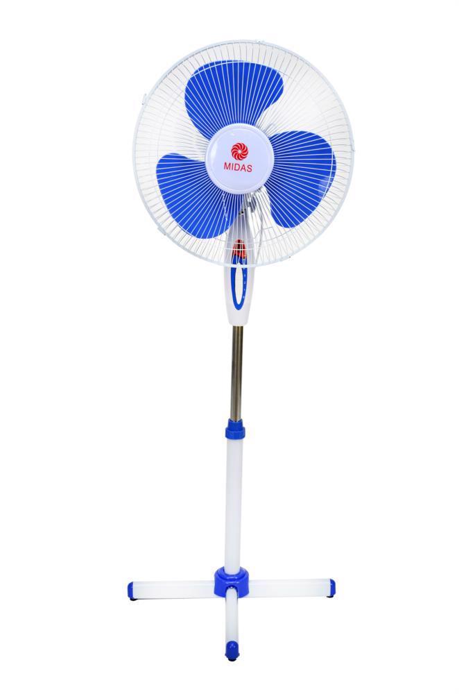 Вентилятор підлоговий FS40-017 3-х шв. MIDAS синій