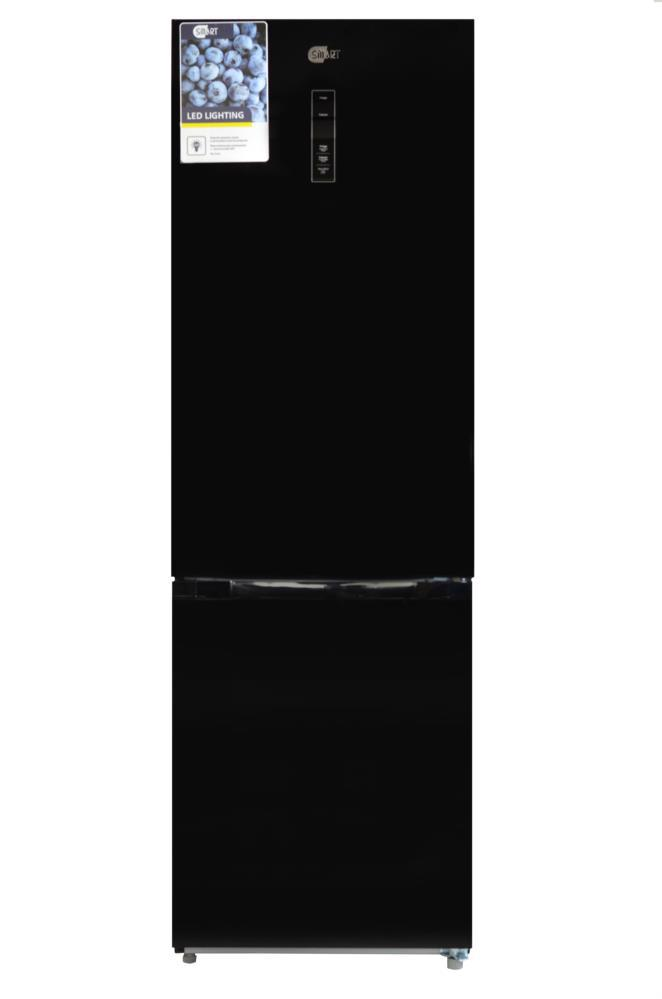 Холодильник SMART BM308BG скло чорне