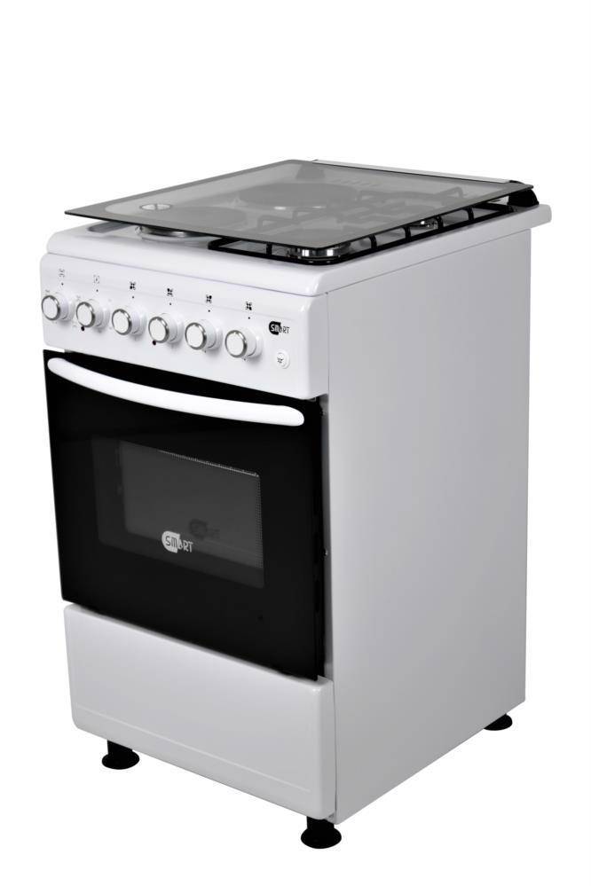 Плита газ/електр. SMART 2222MCLW (2газ.+2ел. комфорки) біла