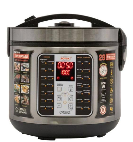Мультиварка ROTEX 900Вт 5л RMC401-B Smart Cooking
