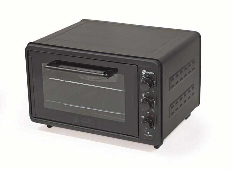 Піч електр. SMART 1300Вт 42л RCO-113 з конвекціею чорна