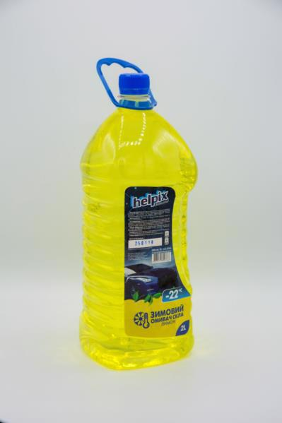 Автоочищувач скла HELPIX -22°С лимон 2л